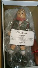 "GOEBEL M J HUMMEL Porcelain 14"" Little Scholar Doll never taken out of box"