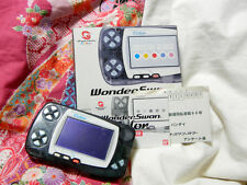 """Wonderswan Color"" Bandai Crystal Black Console WS Japan 100% Works sn0100277416"