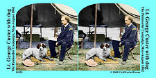 George Custer Dog Civil War SV Stereoview Stereocard 3D 01553