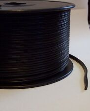 BLACK PLASTIC COVERED LAMP CORD 18/2 SPT-1 SOLD BY THE FOOT LAMP PART 46602JB