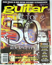 GUITAR Magazine February 1996 Top 50 Rock Guitar Albums Hendrix Queen Yngwie