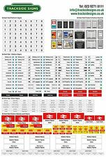 British Rail - Model Railway Full Station Sign Set - N Gauge 2mm Trackside Signs
