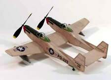 F-82 Twin Mustang #206 Dumas Balsa Wood Model Airplane Kit Rubber Powered