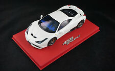 1/18 BBR FERRARI 458 SPECIALE AVUS WHITE GLOSS ON DELUXE BASE LE 20 PCS N MR