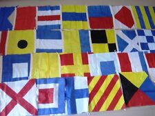 "Naval Signal Flags / Flag SET- 100% COTTON - Set of Total 26 flag - 15"" X 15"""