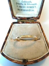 Lovely Vintage 1929 Hallmarked 18ct Gold Band - Wedding Band Ring. Size L