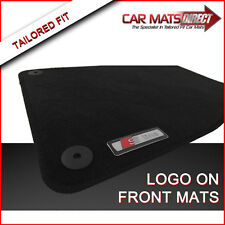 Audi A4 S Line (01-07) Tailored Car Floor Mats Black Velour Carpet with Logos