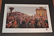 Mort Kunstler - Mr. Lincoln Comes To Gettysburg - Collectible Civil War Print