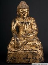 Südostasien 19. Jh. Holz - A Lacquered & Gilded Wood Figure of Buddha - Bouddha