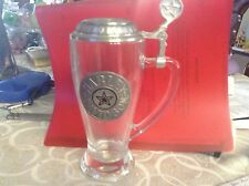 "Harley Davidson Beer Stein Glass Mug Fidenza Made In Italy Pristine 8"" 14 oz"