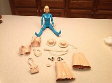 Marx Action Figure Johnny West Series Jane West W/ Accesories  Blue Vintage