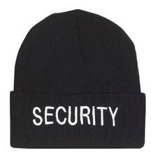 Security Beanie Watch Cap Black Embroidered  Rothco 5442
