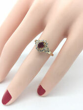 Ladies Oval Ruby and Round Full Cut Diamond 1.00 Carat 14K Yellow Gold Ring
