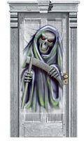 Halloween Party Door Gore Decoration Grim Reaper cheap poster banner scene sette