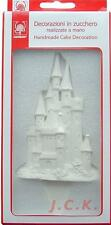12.5cms TALL COLOURABLE PRINCESS CASTLE PICK SUGAR PASTE CAKE TOPPER DECORATION