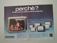 advertising Pubblicità 1979 GRUNDIG TV TELEVISORI