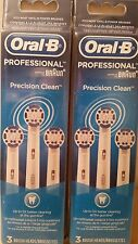 2 Oral-B Braun Precision Clean packs Replacement Toothbrush Brush Head 6 heads