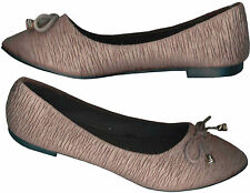 NWOB♥TEXTURED♥BEAVERBROWN♥ISS€Y MIY@KE INSPIRED♥WOMEN'S♥CLASSIC♥FLAT SHOES_40/39
