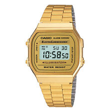 Vintage Casio A168WG-9W Gold Digital Watch NEW A168 Japan