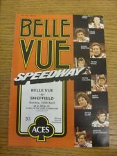 10/04/1983 Speedway Programme: Belle Vue v Sheffield [League Cup] (results/rider