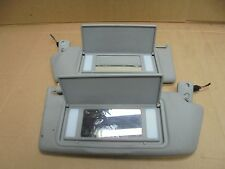 VAUXHALL ASTRA 2005-2009 MK5 PAIR OF GREY SUN VISORS WITH 2 MIRRORS AND LIGHTS