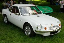 Old Photo.  White Ginetta G15 at Automobile Show