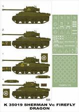 Montex 1/35 tank masks Sherman Firefly Vc for Dragon kits - K35019