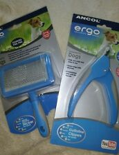 Ancol Ergo Dog Slicker brush & Dog Nail Clipper guillotine type both items £10