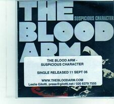 (DU778) The Blood Arm, Suspicious Character - 2006 DJ CD