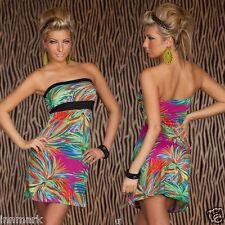 447 STUNING SEXY STRAPLESS MULTICOLOUR MINI SUNDRESS ONE SIZE REGULAR INNMARK