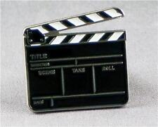 Metal Enamel Pin Badge Brooch Clapper Board Film Television TV Director Take