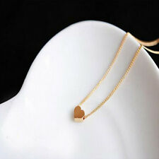 Elegant Sweet Little Gold Love Heart Cute Short Necklace Present Gift For Girl