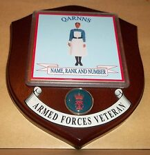 Royal Navy QARNNS Veteran Wall Plaque with name rank & number printed free.