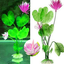 Artifical Green Grass Aquarium For Fish Tank Water Lotus Plants Decor Ornaments