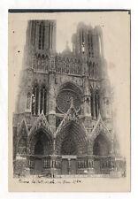 PHOTO ANCIENNE - CATHÉDRALE DE REIMS 1924 Esplanade Vintage Monument