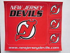 New Jersey Devils Sticker Set 4 Total Stickers NHL Hockey Collectable Mint