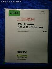 Sony Bedienungsanleitung HT DDW840 /DDW740 FM/AM Receiver (#2644)
