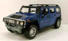 "Maisto 2003 Hummer H2 SUV 1:27 scale 7.5"" diecast model car new Blue M10"