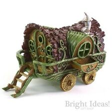 Fiddlehead Fairy Garden - FAIRY HOME - Gypsy Wagon Caravan With Opening Door