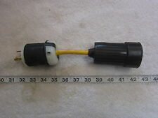"20A 125V Twist-Lock Plug to Straight Connector 8"" Adapter Cord L5-20, Used"