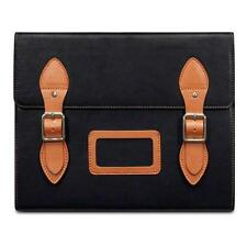 Black Varsity Genuine Leather Satchel Style Case for iPad 2/3/4 - C by Covert