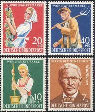 Germania 1958 benessere/AGRICOLTURA/uva/vino/Persone/associazione di beneficenza Set 4v (n28307)
