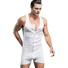 Men Cotton Fitness Compression Bodysuit Underwear Gym Sport Vest Shirt Underwear