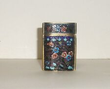 CHINESE CLOISONNE ENAMEL SMALL INRO CANISTER JAR BOX