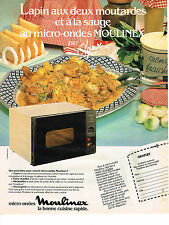 PUBLICITE ADVERTISING  1983   MOULINEX   micro-ondes