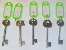 Xx Locksmith Mortice Lock Identification Gauge Keys/ Assorted Locksmith Keys Xx