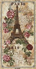 "PARIS  EIFFEL TOWER  FRANCE 23"" TIMELESS TREASURES NATURAL  COTTON FABRIC PANEL"