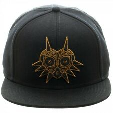 THE LEGEND OF ZELDA MAJORA'S MASK GOLD LINE ART BLACK SNAPBACK CAP (BRAND NEW)
