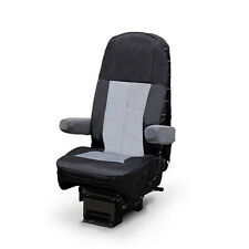 Black/Gray Heavy Duty Seat Cover for Freightliner, Peterbilt, Kenworth and more