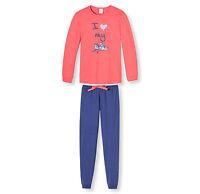 SCHIESSER Mädchen Pyjama lang Motiv Herz Größe 140 152 164 176 Schlafanzug NEU